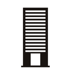 silhouette monochrome with office building vector image