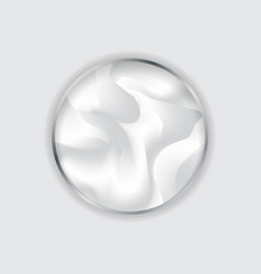 Silver circle frame in fluid white background vector