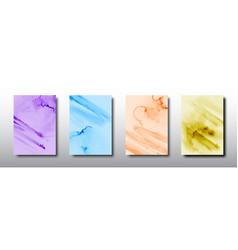Splash bright watercolor design on multicolored vector