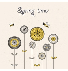 Spting time vector image vector image