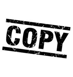 Square grunge black copy stamp vector