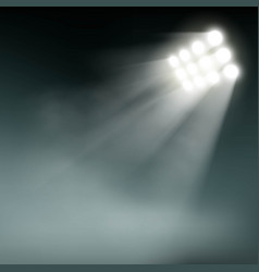 Stadium lights on a dark background vector