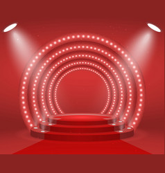 Stage with lights for awards ceremony vector