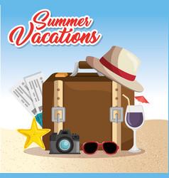 Summer vacations trip design vector