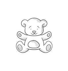 Teddy bear sketch icon vector