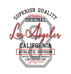 Typography athletic los angeles california sport vector