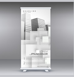White roll up standee banner design for your vector