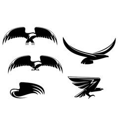eagle symbols and tattoo vector image
