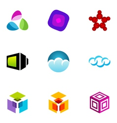 logo design elements set 21 vector image vector image