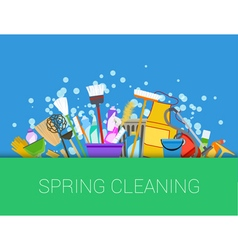 Spring cleaning background vector image