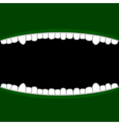 Vampire Mouth with Teeth Halloween Background vector image