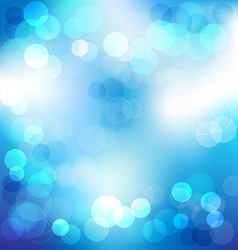 Blue elegant abstract background with bokeh lights vector image