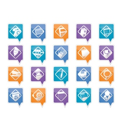 office tools icons vector image vector image