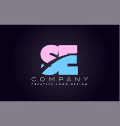 se alphabet letter join joined letter logo design vector image