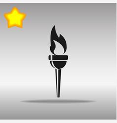 torch black icon button logo symbol vector image