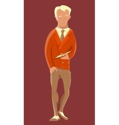 Businessman in suit or costume tie jacket vector image
