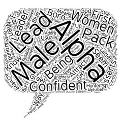 Do Women Like Alpha Males text background vector image