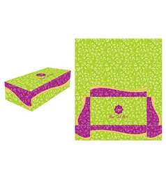 Green and Violet Cake Box vector image vector image