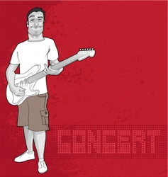 guitarist and concert graphic vector image