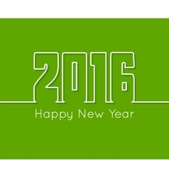 Happy New Year outline text design on green vector image