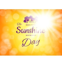 Summer background with sun burst EPS 10 vector image vector image