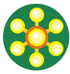 yellow spinner with balls on blades vector image vector image