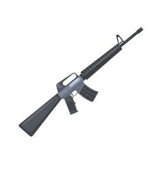 automatic machine gun military weapon vector image