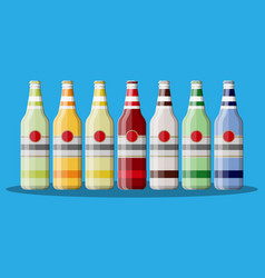 bottle of carbonated drink or juice vector image vector image