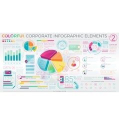 Colorful Corporate Infographic Elements vector image