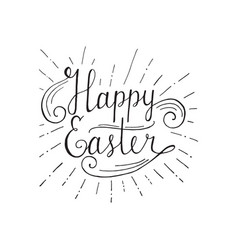 happy easter lettering hand written easter vector image vector image