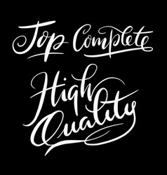 High quality hand written typography vector