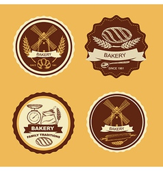 Set of vintage bakery badges and labels Retro vector image