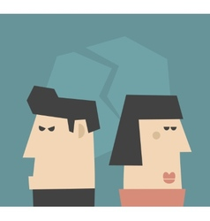 Young couple having relationship problems vector image