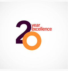 20 year anniversary excellence template design vector