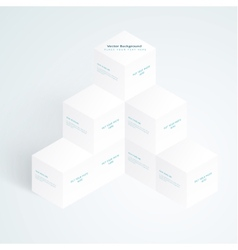 3d white cubes vector