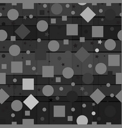 a seamless repeating pattern made up of geometric vector image