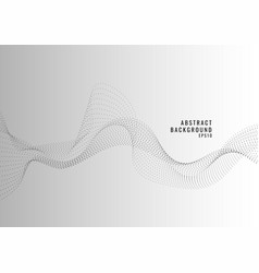 Abstract black many dots wavy lines particles vector