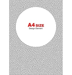Abstract halftone dots circle background a4 size vector