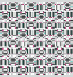 Abstract ruffle geometric seamless pattern pixel vector