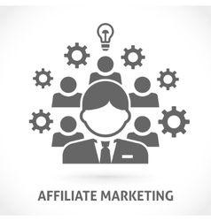 Affiliate network marketing vector