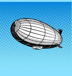 Airship pop art vector