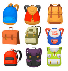 back to school kids school backpack vector image