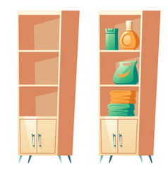 bathroom rack with shelves for towels clip art vector image