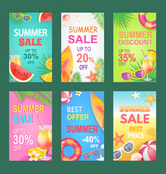 best offer summer proposition vector image