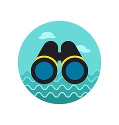 Binoculars icon Summer Marine vector