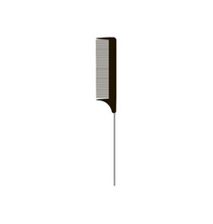 black narrow comb scallop with handle isolated on vector image