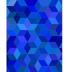 Blue color 3d cube mosaic background design vector image