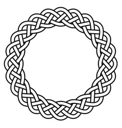braided knitted guilloche rosette frame vector image