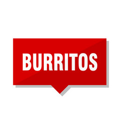 Burritos red tag vector