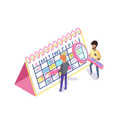 calendar planning and organization time 3d vector image